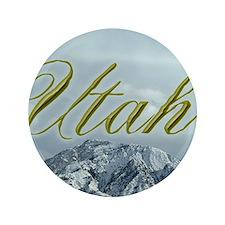 """Utah Mountain Souvenir 3.5"""" Button"""