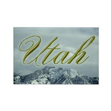 Utah Mountain Souvenir Rectangle Magnet