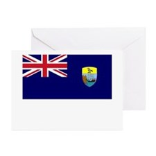 Saint Helena Flag Picture Greeting Cards (Package