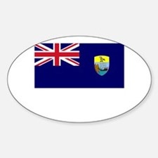 Saint Helena Flag Picture Oval Decal