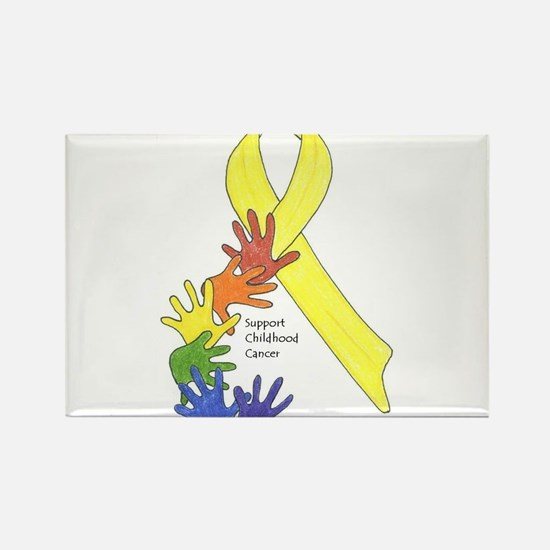 Hands up for Childhood Cancer Awareness Rectangle