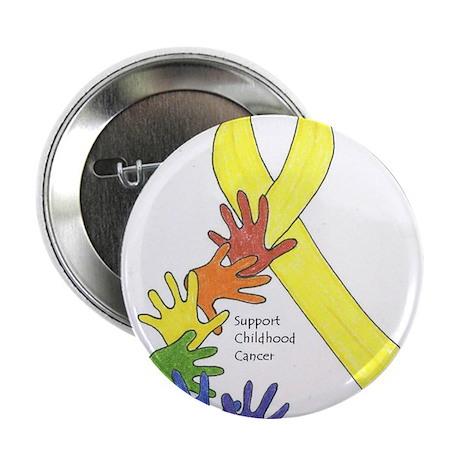 "Hands up for Childhood Cancer Awareness 2.25"" Butt"