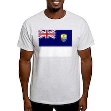 Saint Helena Flag Picture Ash Grey T-Shirt
