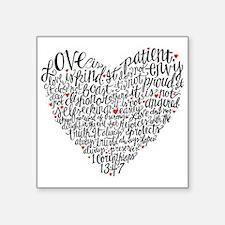 Love is patient Corinthians 13:4-7 Square Sticker