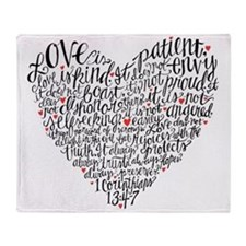 Love is patient Corinthians 13:4-7 Throw Blanket