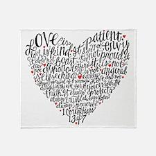 Love is patient Corinthians 13:4-7 Throw Blanket