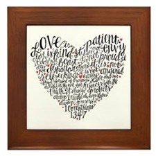 Love is patient Corinthians 13:4-7 Framed Tile