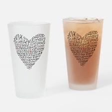 Love is patient Corinthians 13:4-7 Drinking Glass