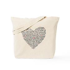 Love is patient Corinthians 13:4-7 Tote Bag