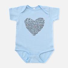 Love is patient Corinthians 13:4-7 Infant Bodysuit