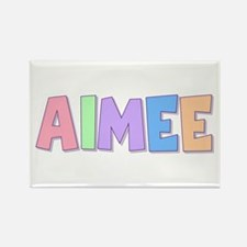 Aimee Rainbow Pastel Rectangle Magnet