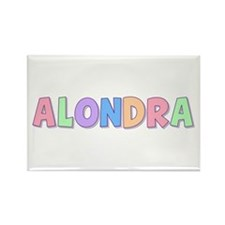 Alondra Rainbow Pastel Rectangle Magnet