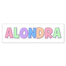 Alondra Rainbow Pastel Bumper Bumper Sticker