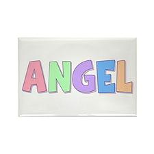 Angel Rainbow Pastel Rectangle Magnet