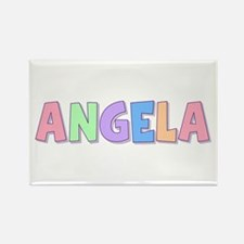 Angela Rainbow Pastel Rectangle Magnet