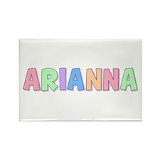 Arianna Rainbow Pastel Rectangle Magnet
