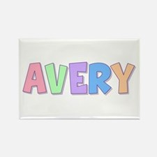 Avery Rainbow Pastel Rectangle Magnet