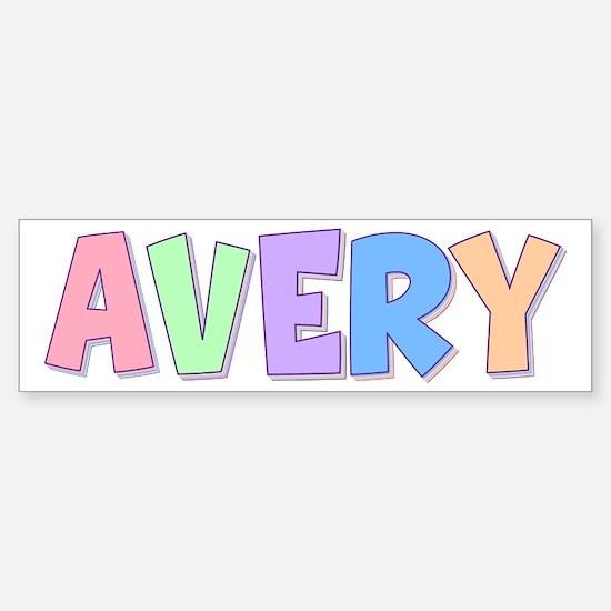 Avery Rainbow Pastel Bumper Bumper Bumper Sticker