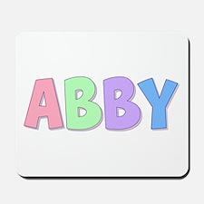 Abby Rainbow Pastel Mousepad