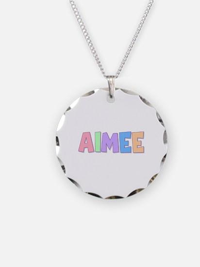 Aimee Rainbow Pastel Necklace