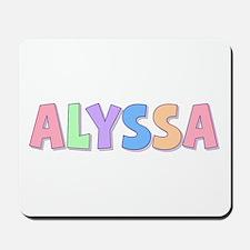 Alyssa Rainbow Pastel Mousepad
