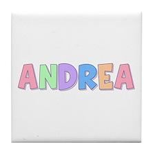 Andrea Rainbow Pastel Tile Coaster