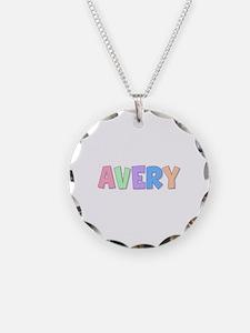 Avery Rainbow Pastel Necklace Circle Charm
