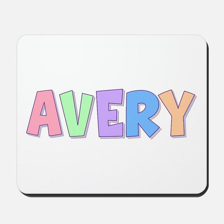 Avery Rainbow Pastel Mousepad