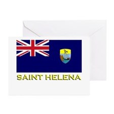 Saint Helena Flag Stuff Greeting Cards (Package of