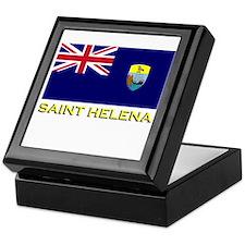 Saint Helena Flag Stuff Keepsake Box