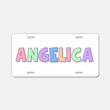Angelica Rainbow Pastel Aluminum License Plate