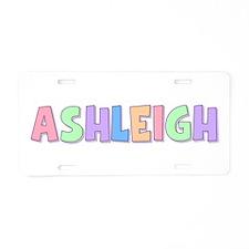 Ashleigh Rainbow Pastel Aluminum License Plate