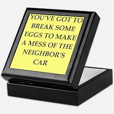 break eggs Keepsake Box