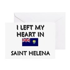 I Left My Heart In Saint Helena Greeting Cards (Pa