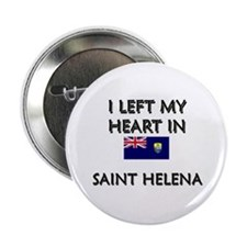 I Left My Heart In Saint Helena Button