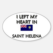 I Left My Heart In Saint Helena Oval Decal