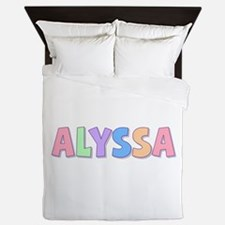 Alyssa Rainbow Pastel Queen Duvet