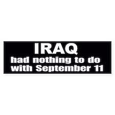 No Iraq 9/11 Connection Bumper Bumper Sticker