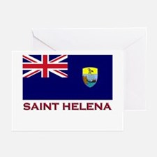 Saint Helena Flag Gear Greeting Cards (Package of