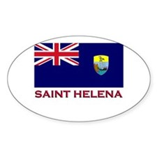 Saint Helena Flag Gear Oval Decal
