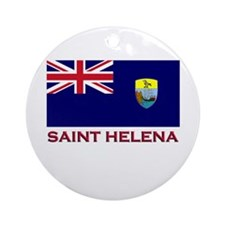 Saint Helena Flag Gear Ornament (Round)