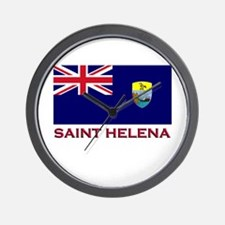 Saint Helena Flag Gear Wall Clock