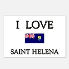 I Love Saint Helena Postcards (Package of 8)