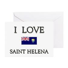 I Love Saint Helena Greeting Cards (Pk of 10)