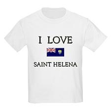 I Love Saint Helena Kids T-Shirt