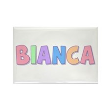 Bianca Rainbow Pastel Rectangle Magnet
