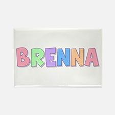 Brenna Rainbow Pastel Rectangle Magnet
