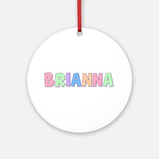 Brianna Rainbow Pastel Round Ornament
