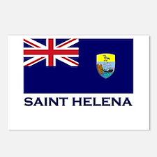 Saint Helena Flag Merchandise Postcards (Package o