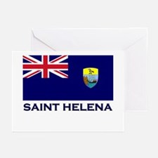 Saint Helena Flag Merchandise Greeting Cards (Pack